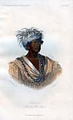 Tuch-ee, A Cherokee War Chief', 1848