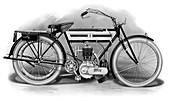 An early Triumph motorcycle, 1911-1912