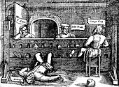 Prisoners in the Lollards' Tower, 1550s