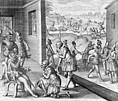The Spanish capture Fort Caroline, 1565