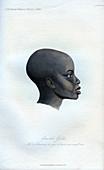 Amochi Galla, a portrait of a Galla, 1848