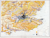 Map of London and south-east England, 1891