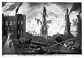 The Great Fire of London in the year 1666'