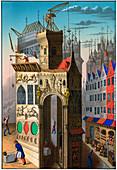 Building construction, France, 15th century