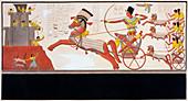 Rameses II at the Battle of Kadesh, 1275 BC