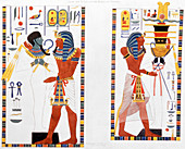 Two murals from the tombs of the Kings of Thebes