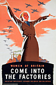 Women of Britain Come into the Factories', c1940