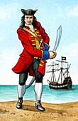 John 'Calico Jack' Rackham, English Pirate Captain