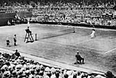 Women's tennis match, Wimbledon, London, 1926-1927