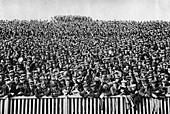A Saturday winter football crowd, London, 1926-1927