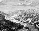 Geysers in Waikato, North Island, New Zealand, 1886