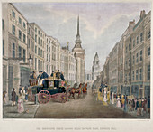 The Cambridge coach leaving Nelson Inn, London, 1818