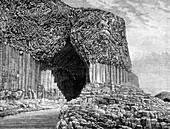 Fingal's Cave, Island of Staffa, Scotland, 19th century
