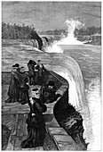 Marquis and Marchioness of Lorne at Niagara Falls, Canada
