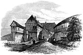 Luther's house at Wartburg Castle, Eisenach, Germany, 1862