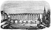 The ancient Pont aux Changers, Paris, France, c16th century