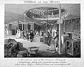 Temple of the Muses Bookshop, Finsbury Square, London, c1810