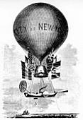 Professor Lowe's Balloon', c1859