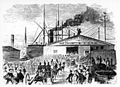 The Loading Of The Atlantic And Baltic Boats', c1860s