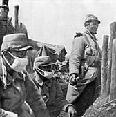 Gas protection, France, World War I, 1915