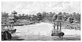 Sydney Cove, New South Wales, Australia, 1788, (1886)