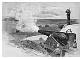 25 Ton gun at Middle Head, Sydney, Australia, 1886