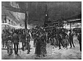 Saturday night in George Street, Sydney, Australia, 1886