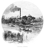 Paper Mill, Liverpool, New South Wales, Australia, 1886