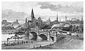 Princes Bridge, Melbourne, Victoria, Australia, 1886