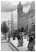 Collins Street East, Melbourne, Australia, 1886