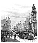 Collins Street looking east, Melbourne, Australia, 1886