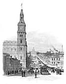 Bourke Street, Melbourne, Victoria, Australia, 1886