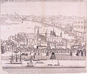 View of the Tower of London from the River Thames, 1744