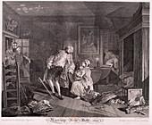 Marriage a la mode, Plate V', 1745