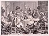 A Midnight Modern Conversation', 1733