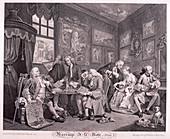 Marriage a la mode', 1745; plate I
