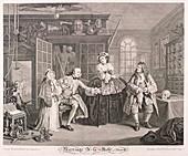 Marriage a la Mode', 1745; plate III