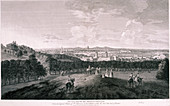 View from Greenwich Park, London, c1774