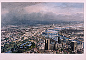 View of London from Westminster, c1850