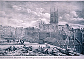 Southwark Cathedral, London, 1830