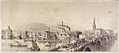 Blackfriars Bridge, London, 1835