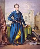 Christ's Hospital pupil, city of London, 1854