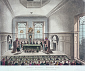 Drawing of the State Lottery, Coopers' Hall, London, 1809
