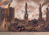 Ludgate, Great Fire of London, London, 1792