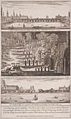 London Bridge (old), London, 1758