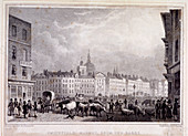 View of Smithfield Market from the Barrs, London, 1830