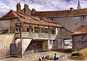The Black Bull Inn, Whitefriars, London, 1867