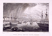 West India Docks, Poplar, London, c1830