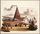 Tile Kiln, Gray's Inn Road, Holborn, London, 1812