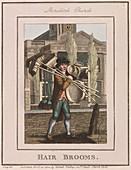 Hair Brooms', Cries of London, 1804